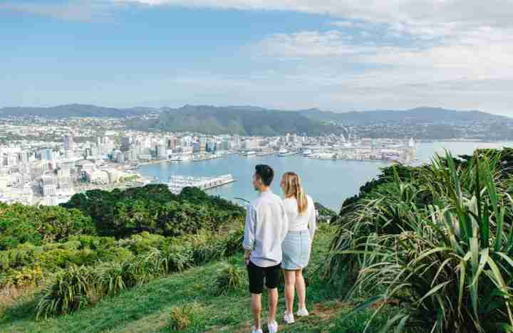 Mount Victoria view with two people
