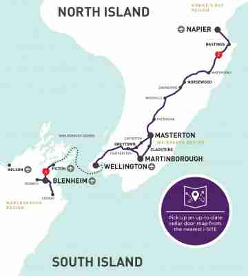classic new zealand wine trail map cover