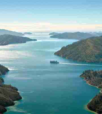 InterIslander Kaitaki Aerial Marlborough Sounds1